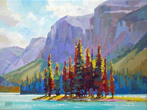 """'Island Colour' 12"""" x 16"""" Acrylic on canvas by Randy Hayashi"""