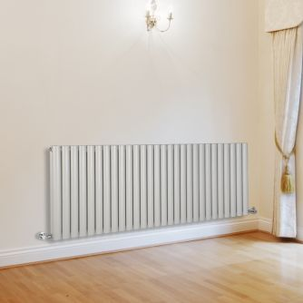 Aruba - Luxury White Horizontal Designer Double Radiator 635mm x 1645mm - Image 1