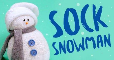 DIY No-Sew Sock Snowman