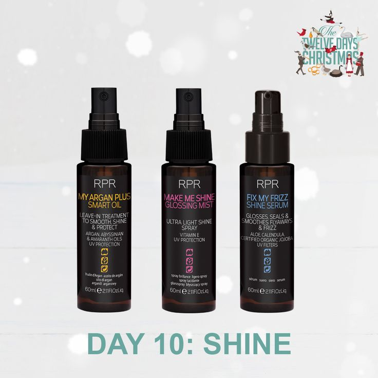 DAY 10: SHINE. Shine bright this Christmas with our range of Intelligent Oils. Smooth, shine and protect your beautiful locks with these perfect stocking fillers.