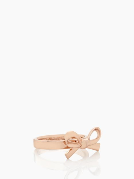 Kate Spade Skinny Mini Bow Ring in rose gold, on the wish list #katespade #ring #rosegold