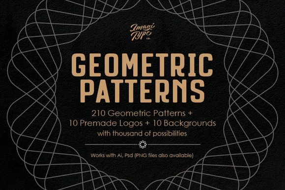 Geometric Patterns Kit by ihsankl on @creativemarket