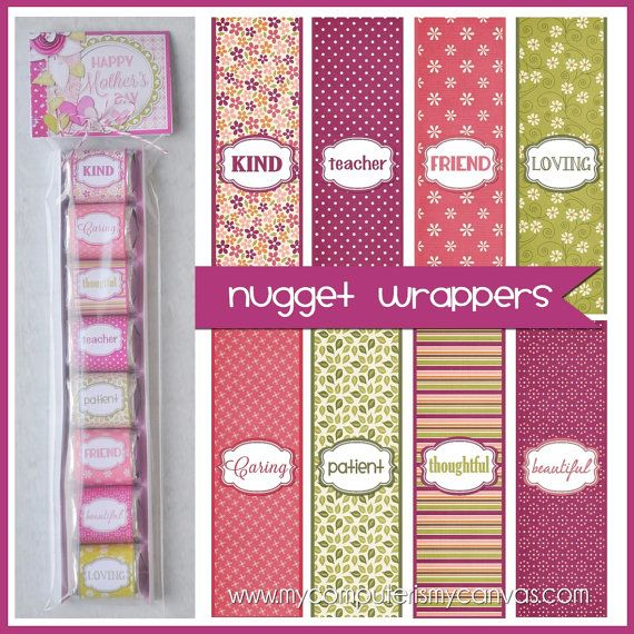 MOTHER'S DAY Chocolate Nugget Wrappers por mycomputerismycanvas