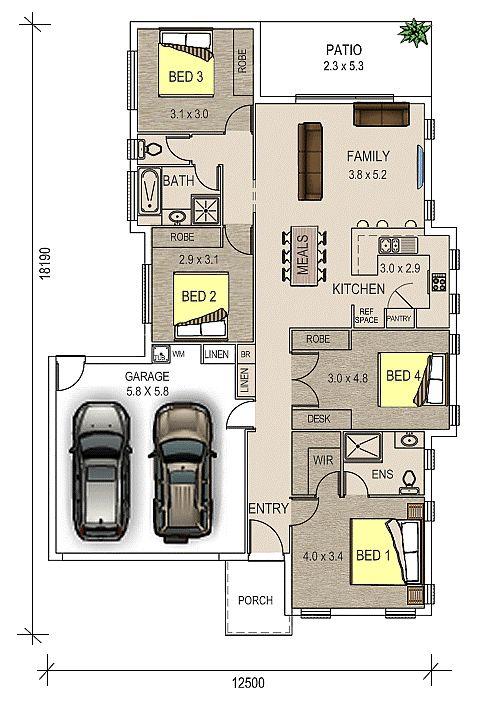 Peak, Double Garage floor plan
