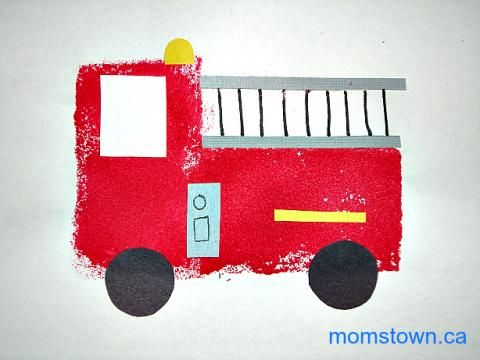 how to make a fire truck out of a shoebox