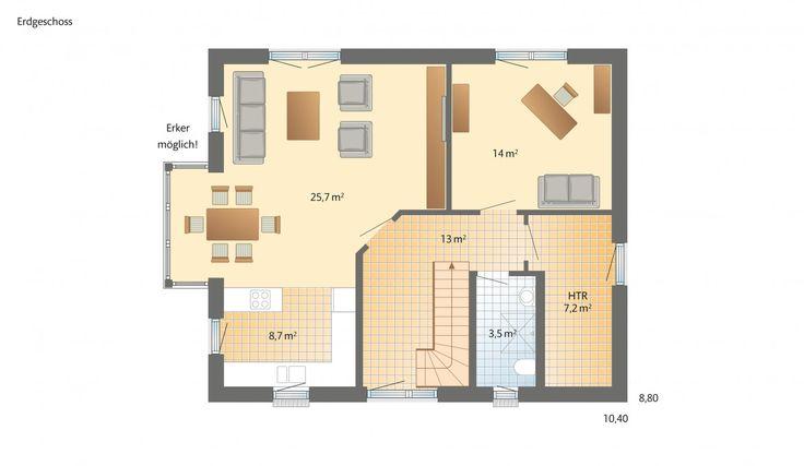Danhaus Meierwik im Landhaus-Stil Grundriss Erdgeschoss