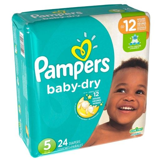 3X drier than ordinary diapers!*<br>Pampers® Baby Dry™ diapers are 3X drier than an ordinary diaper,* so your baby can sleep soundly all night. That's because Baby Dry diapers have 3 layers of absorbency vs. only 2 in an ordinary diaper*, so your baby can get up to 12 hours of overnight protection. Sizes N, 1, and 2 have a color-changing wetness indicator to help you know when it might be time for a change. Pampers Baby Dry diapers are available in sizes N, 1...