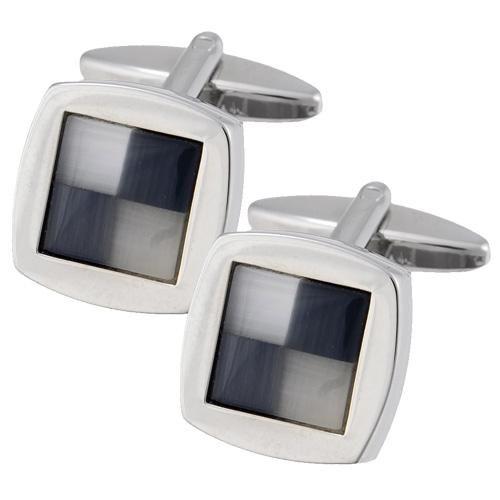Μανικετόκουμπα Ascot Stainless Steel Silver-Black - BeMine.gr