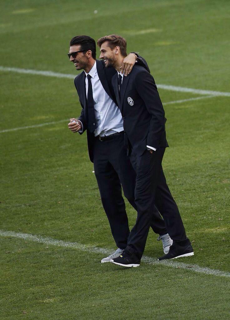 Our wonderful boys: Buffon and Llorente #ForzaJuventus