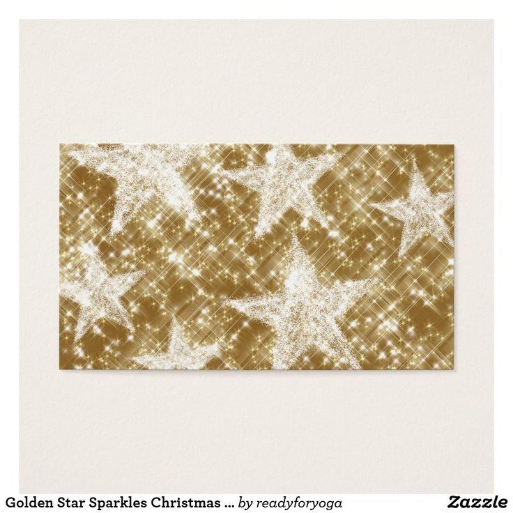Golden Star Sparkles Christmas Holydays Business Card