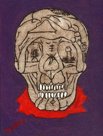 Sex skull John Wayne gacy prison artwork