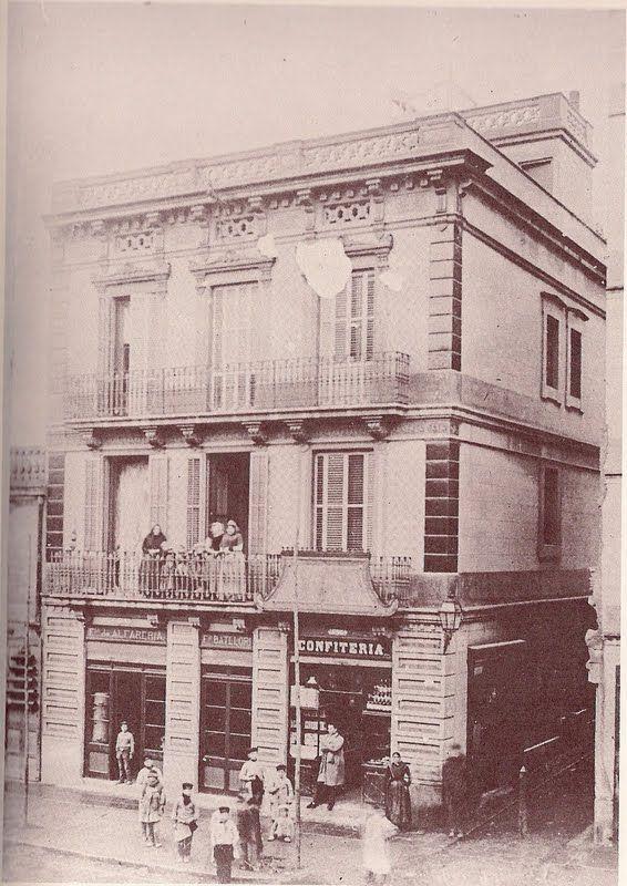Can Batllori carrer de Sants amb el passatge Cros, pastisseria Pere Brut. 1887