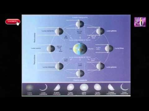 Calendario fases lunares secundarias anual
