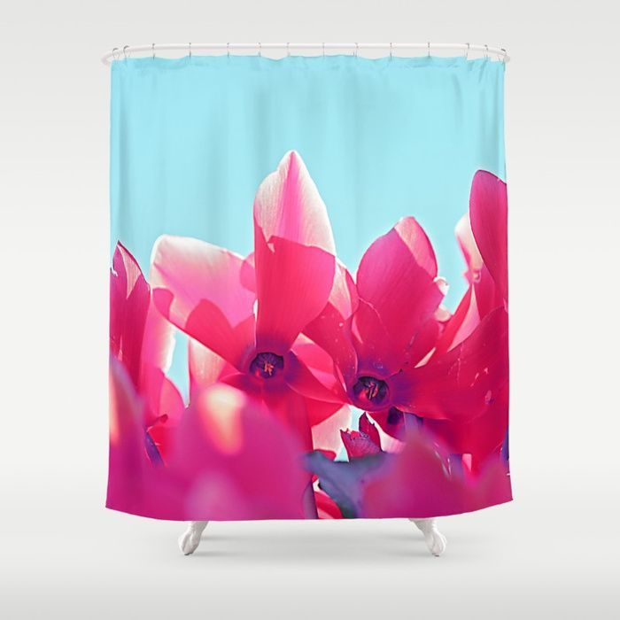 Buy Cyclamen blossom Shower Curtain by maryberg. Worldwide shipping available at Society6.com. Just one of millions of high quality products available.