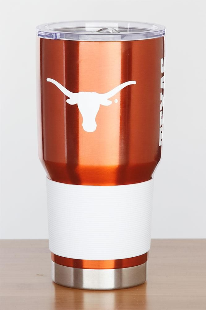 Keep your drinks hot or cold while out and about! This sleek Texas Longhorn 30 oz tumbler will sure show your UT school spirit to all! Order yours today!