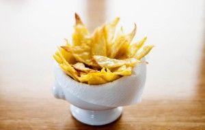Chips di polenta al forno