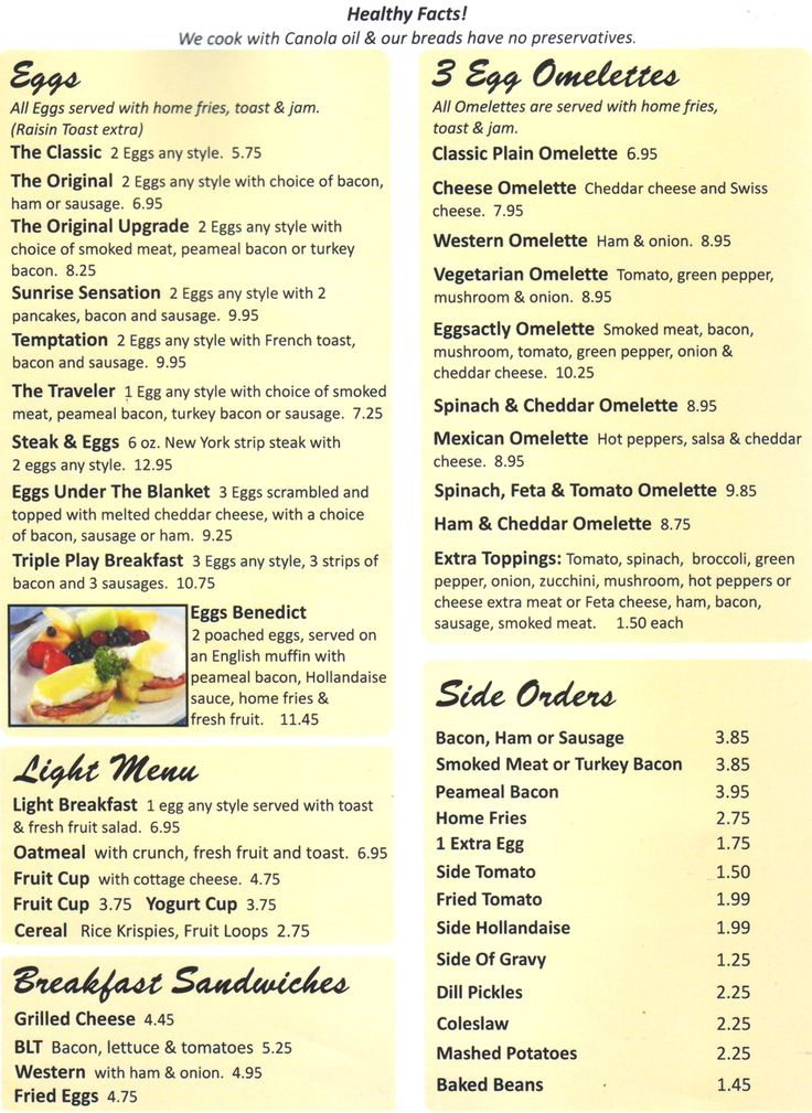Eggsactly Offers Breakfast And Lunch Menu Items Daily In Oakville ON