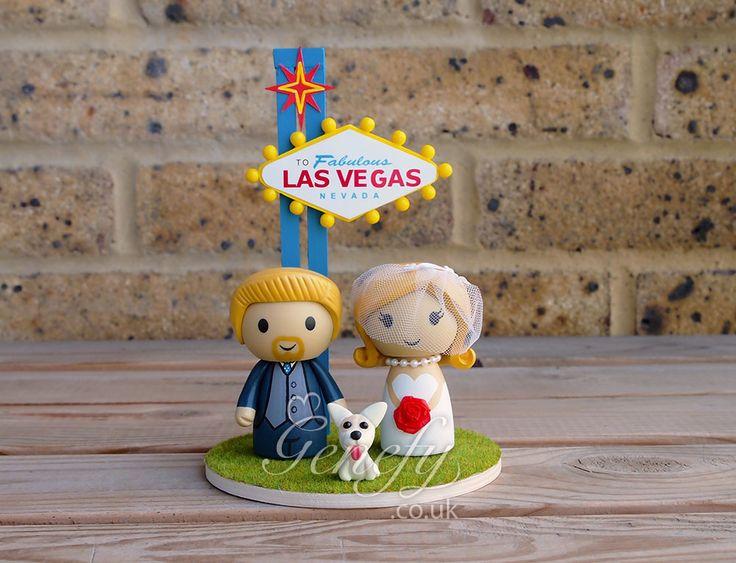 Las Vegas wedding cake topper by GenefyPlayground  https://www.facebook.com/genefyplayground