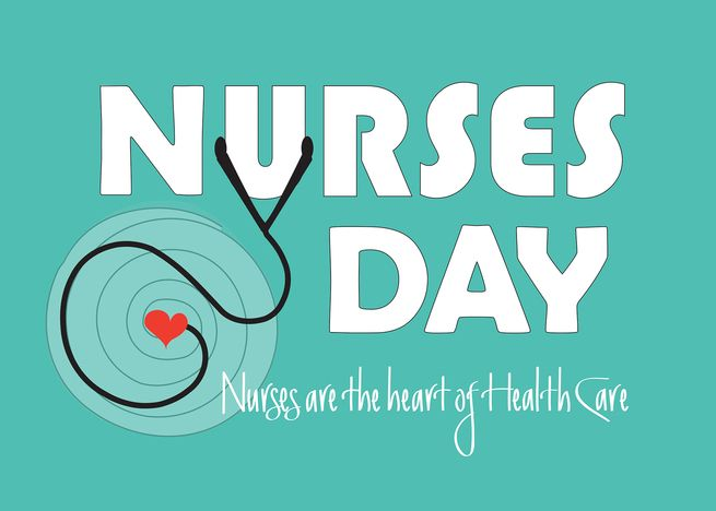 Hand Lettered Teal Nurses Day For 2020 Stethoscope With