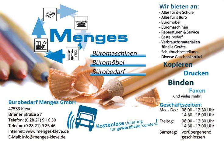 Bürobedarf Menges Kleve - Anzeigengestaltung DIN A6