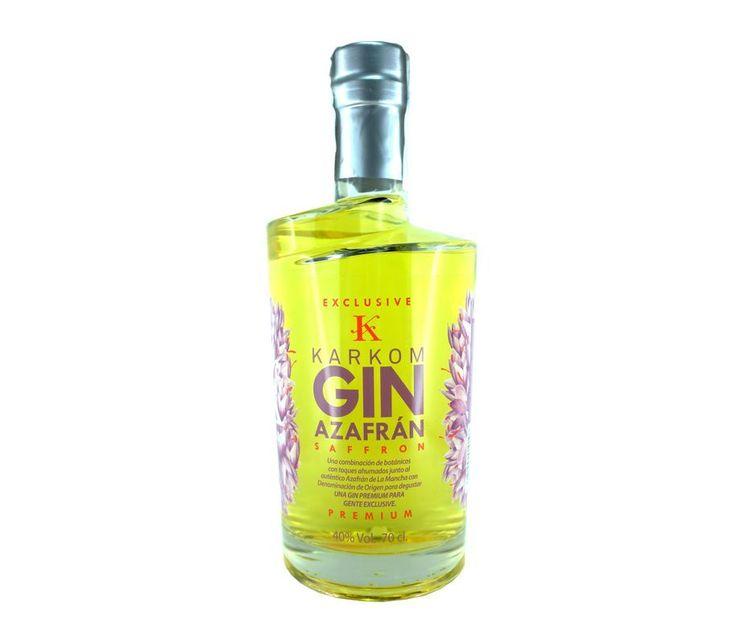 Karkom Gin Premium Exclusive ● Karkom Gin Premium Exclusive es una ginebra de triple destilación elaborada con una equilibrada combinación de botánicos con toques ahumados. Es la primera ginebra de la historia con azafránde La Mancha con Denominación de Origen como ingrediente, el más caro del mundo.  - , #Azafran #CastillaLaMancha #Gin. En www.rincondellicor.com #NoLoOlvides