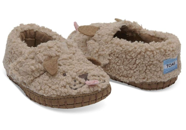 Doodle Face Dog Plush Tiny Toms Crib Alpargatas #babytoms #tinytoms #babyslippers