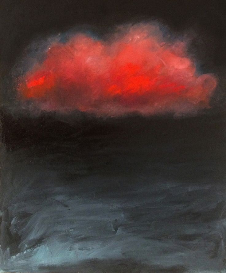 Nube, oil on Board