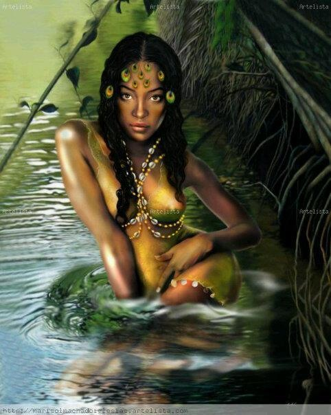 Oshun, Yoruba goddess of love, intimacy, beauty, wealth and diplomacy.