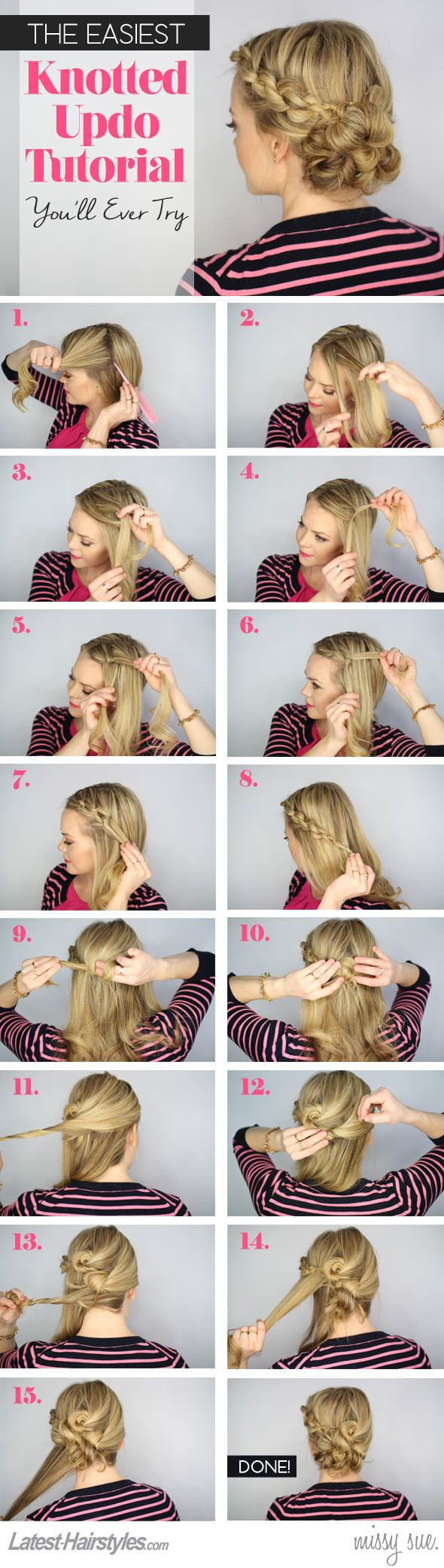Hochsteckfrisur Inspiration | The Knotted Updo You Need to Try | Tutorial
