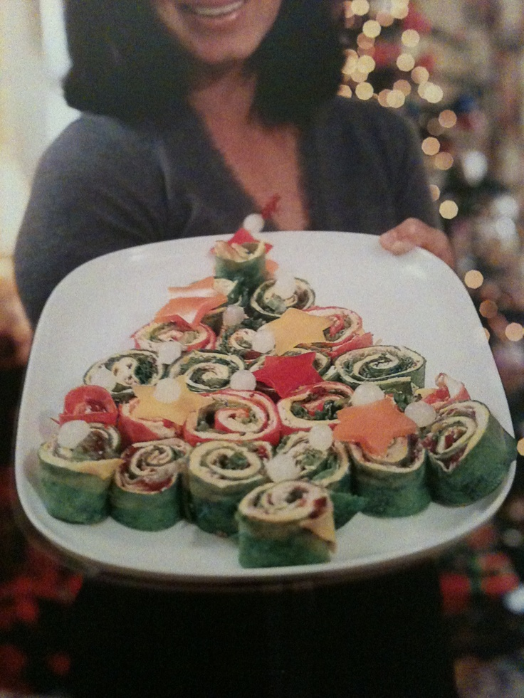 Wrap n stack tree- holiday party food!