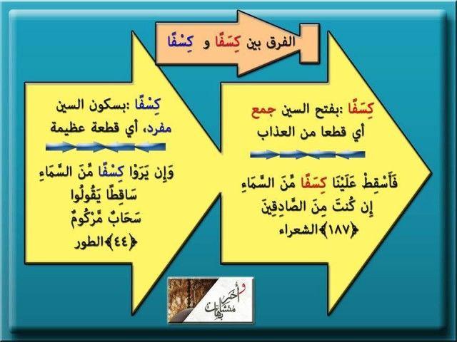 معاني بعض الألفاظ المتشابهة في القرآن الكريم ملتقي مقاومي التنصير