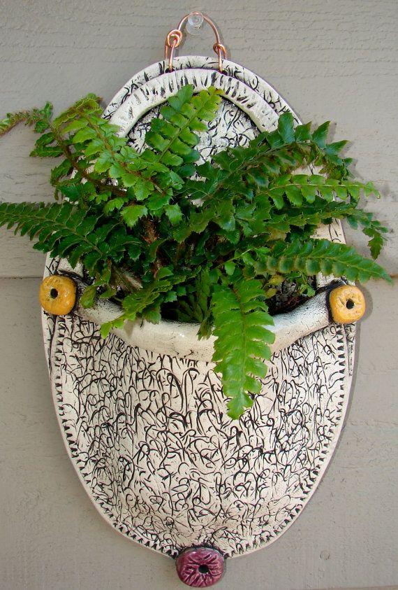 Handmade Wall Vase for the Garden - Think Fathers Day, Teacher Appreciation,  Spring Time Gardener Gift via Etsy