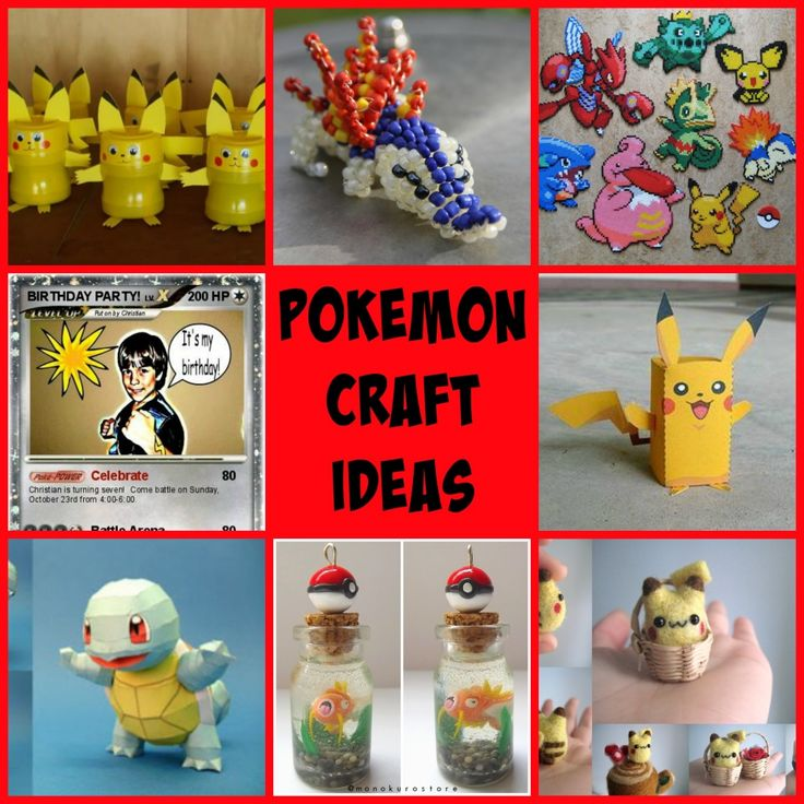 1000 Images About Pokemon Crafts On Pinterest Plastic