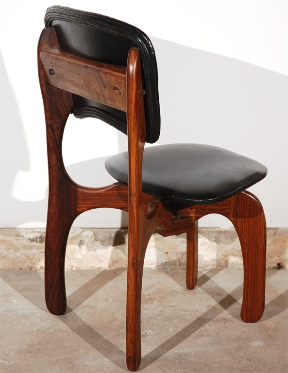 Don Shoemaker; Rosewood And Leather Side Chair, 1950s. Mid Century Modern  FurnitureMidcentury ...