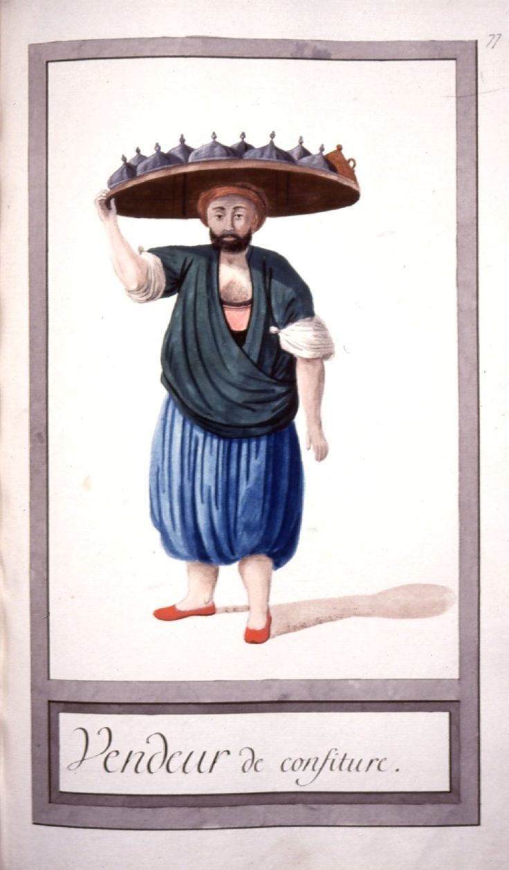 Helvacı - Illustrations of Ottomans circa 1790 from Costumes Turcs Source: British Museum