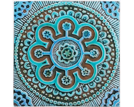 Hey, I found this really awesome Etsy listing at https://www.etsy.com/listing/186222271/suzani-ceramic-tile-wall-tile-decorative