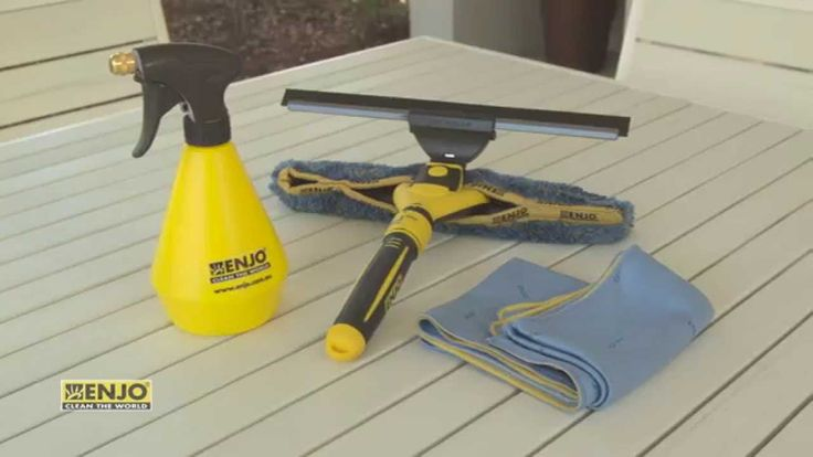 Watch as we show you how to use ENJO to clean your outdoor windows. ENJO's window cleaner can also be used to clean surfaces in the home including french doors, pool fences, solar pannels, internal windows, mirrors, sliding glass doors, shower screens and kitchen splash backs. Find it at: http://www.enjo.com.au