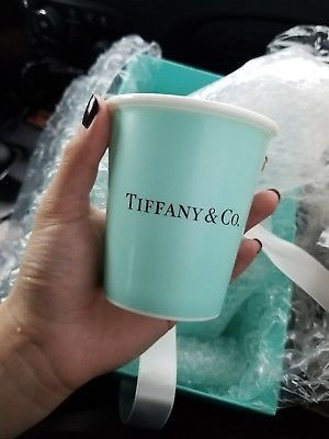 "Tiffany & Co Bone China ""Paper Coffee Cup"" NEW! SOLD OUT EVERYWHERE"