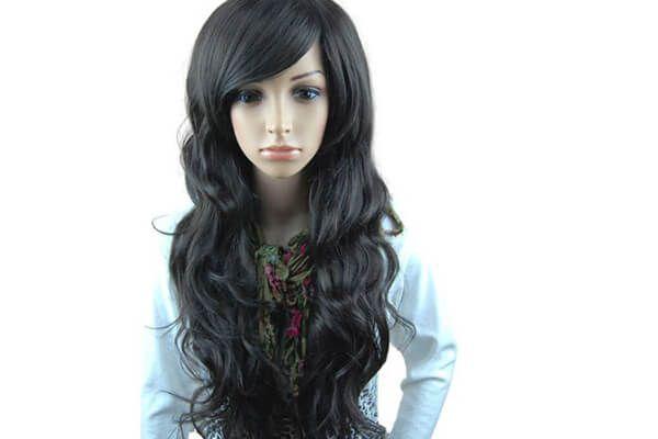 MelodySusie Black Long Curly Wig