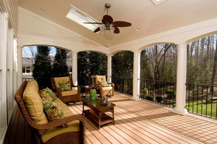 Beautiful Porch With Round Columns And Archways T Amp G Porch