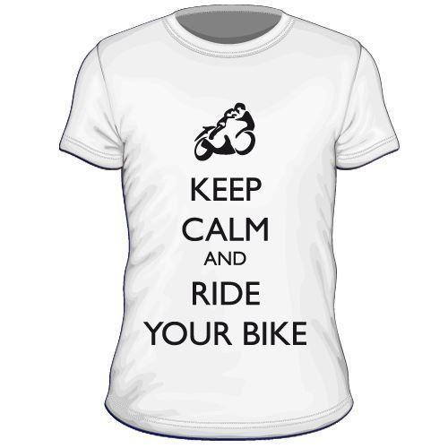 Maglietta personalizzata Keep Calm and Ride Your Bike