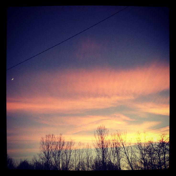 Moon @ sunset