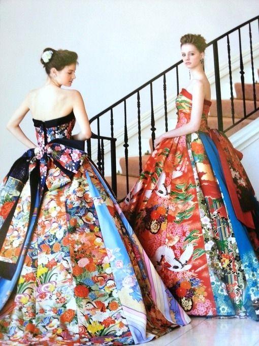 Nishitetsu Grand Hotel's Kimono Wedding Dress | 10 Classy Wedding Dresses Made From Japanese Kimonos