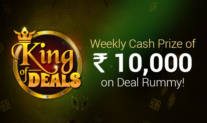 Love the deal games? Well, you have a chance to win exclusive cash prizes on deals rummy games this month at Classic Rummy!  https://www.classicrummy.com/king-of-deals-offer?link_name=CR-12  #rummy #classicrummy #kingofdeals #rummykingofdeals #dealsrummy #dealrummygames #dealsgames