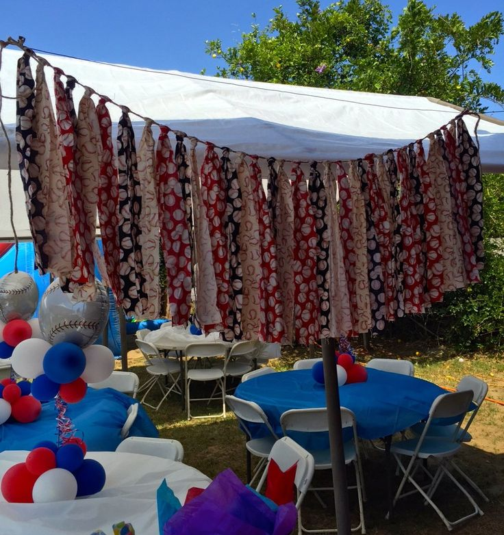 Baseball Banner, Baseball Garland, Red White and Blue Baseball Fabric Garland Banner, Baseball Fabric Backdrop, Baseball Birthday decor by QueensBanners on Etsy https://www.etsy.com/listing/226637619/baseball-banner-baseball-garland-red