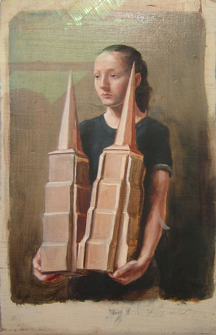 Michael Borremans Flesh Towers - Oil on Wood