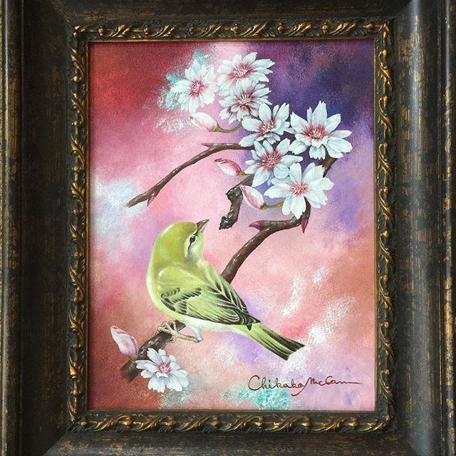 【chikako.do】さんのInstagramをピンしています。 《昔昔に描いた作品から。春をテーマに。連作の一部 I painted this few years ago. #spring #cherryblossom #bird #warbler #mixedmedia #oilpainting #acrylic #canvas #9x12 #flowers #nature #naturelove #sakura #artwork #artlovers #artlife #桜 #春 #鶯 #自然 #花 #鳥 #油絵 #ミックスメディアアート #キャンバス #絵 #アクリル》