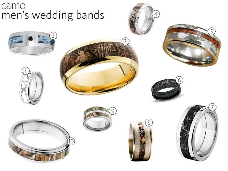 New  Camo Wedding Rings and Engagement Rings