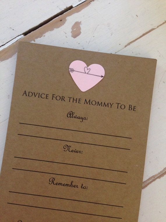 All new mommies need advice. Use these fun advice cards at any new baby event to hear what your loved ones have to say! Great for baby showers,
