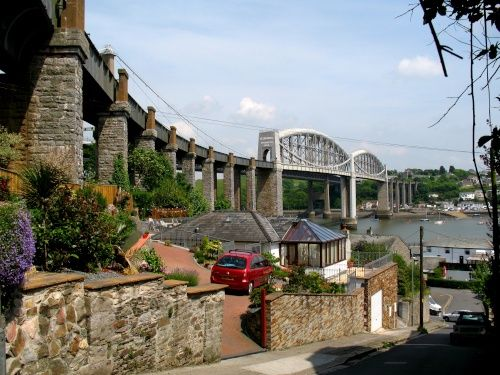 Brunels Saltash railway bridge  Cornwall